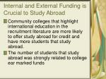 internal and external funding is crucial to study abroad