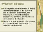 investment in faculty