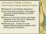 university of toledo owens community college atlantis project