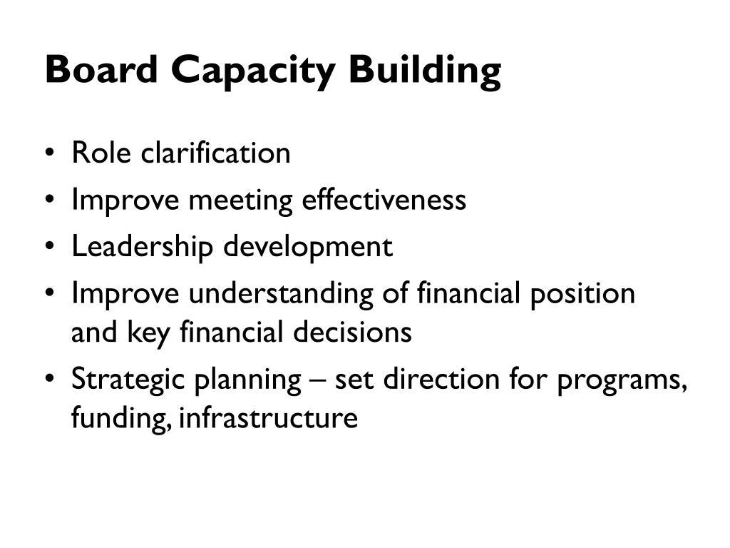 Board Capacity Building