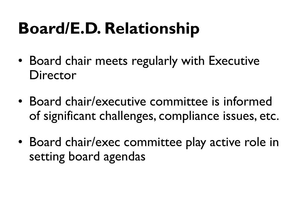 Board/E.D. Relationship