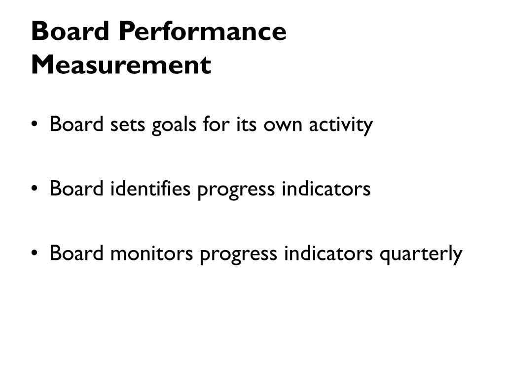 Board Performance Measurement