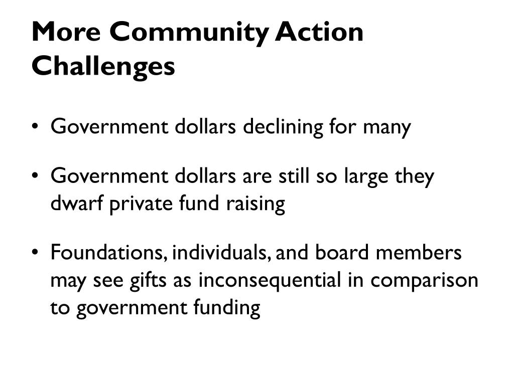 More Community Action Challenges