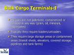 bulk cargo terminals i