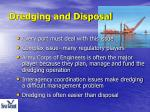dredging and disposal