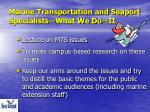 marine transportation and seaport specialists what we do ii