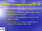 marine transportation terms ii