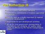 port authorities ii