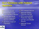 port relations with federal agencies