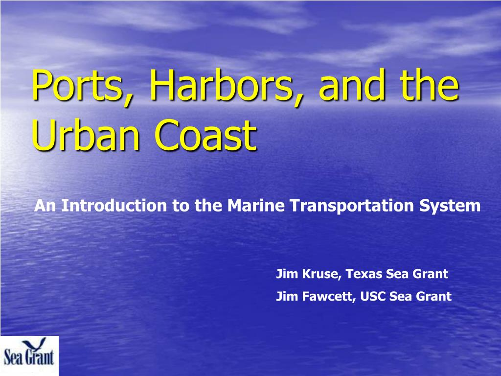 ports harbors and the urban coast l.