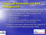 sea grant extension and port management