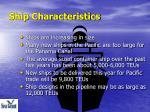 ship characteristics