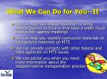 what we can do for you ii