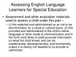 assessing english language learners for special education30