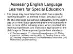 assessing english language learners for special education32