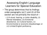 assessing english language learners for special education33