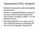 assessment of ell students