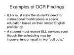 examples of ocr findings57