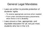 general legal mandates