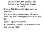 to ensure that ell students are appropriately placed into special education54