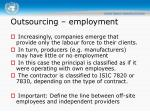 outsourcing employment