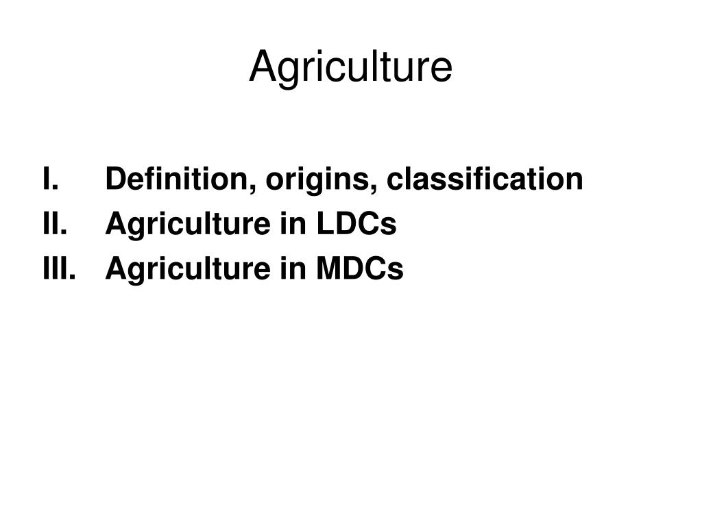 agriculture l.