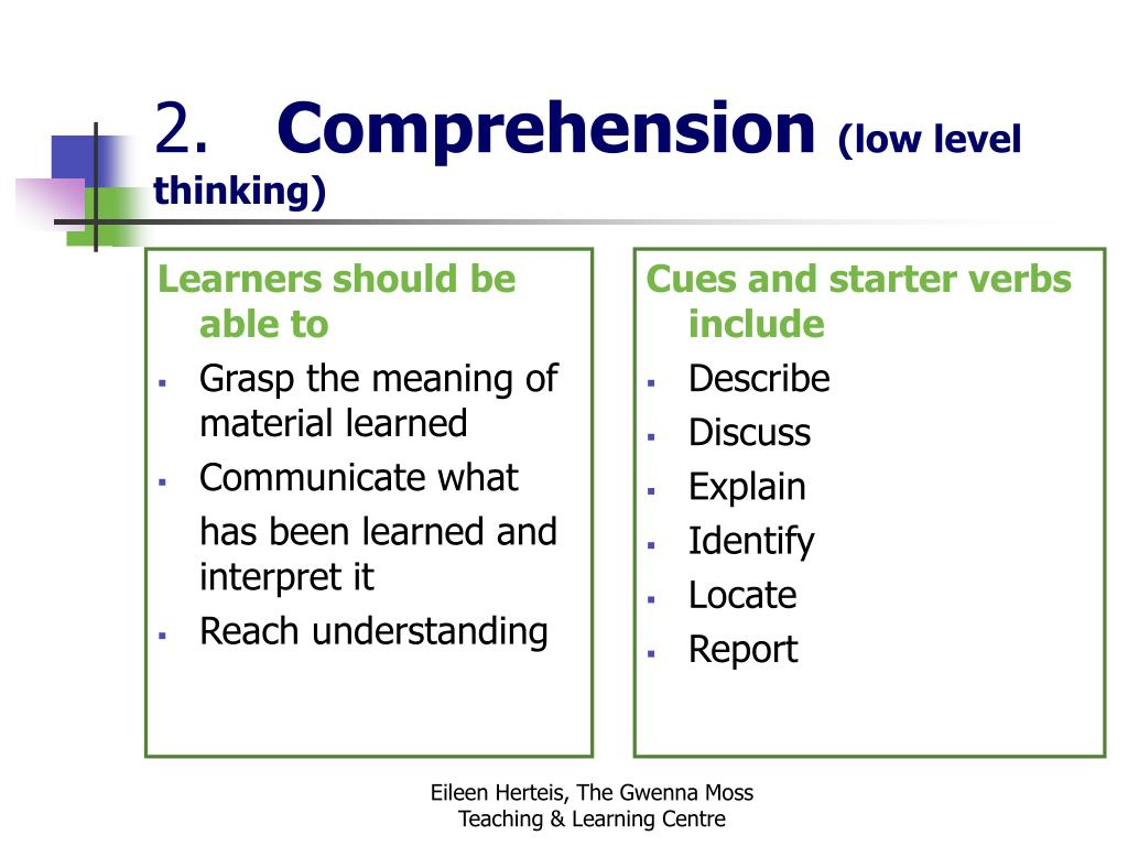 Learners should be able to