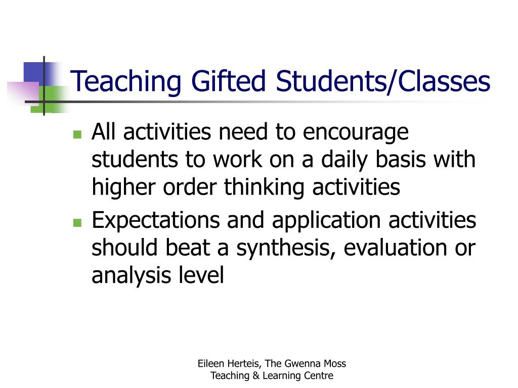 Teaching Gifted Students/Classes