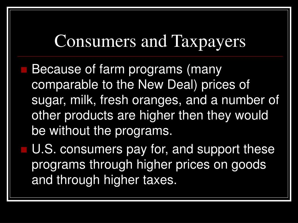Consumers and Taxpayers