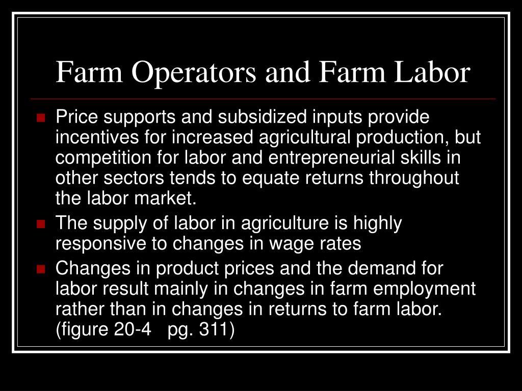 Farm Operators and Farm Labor