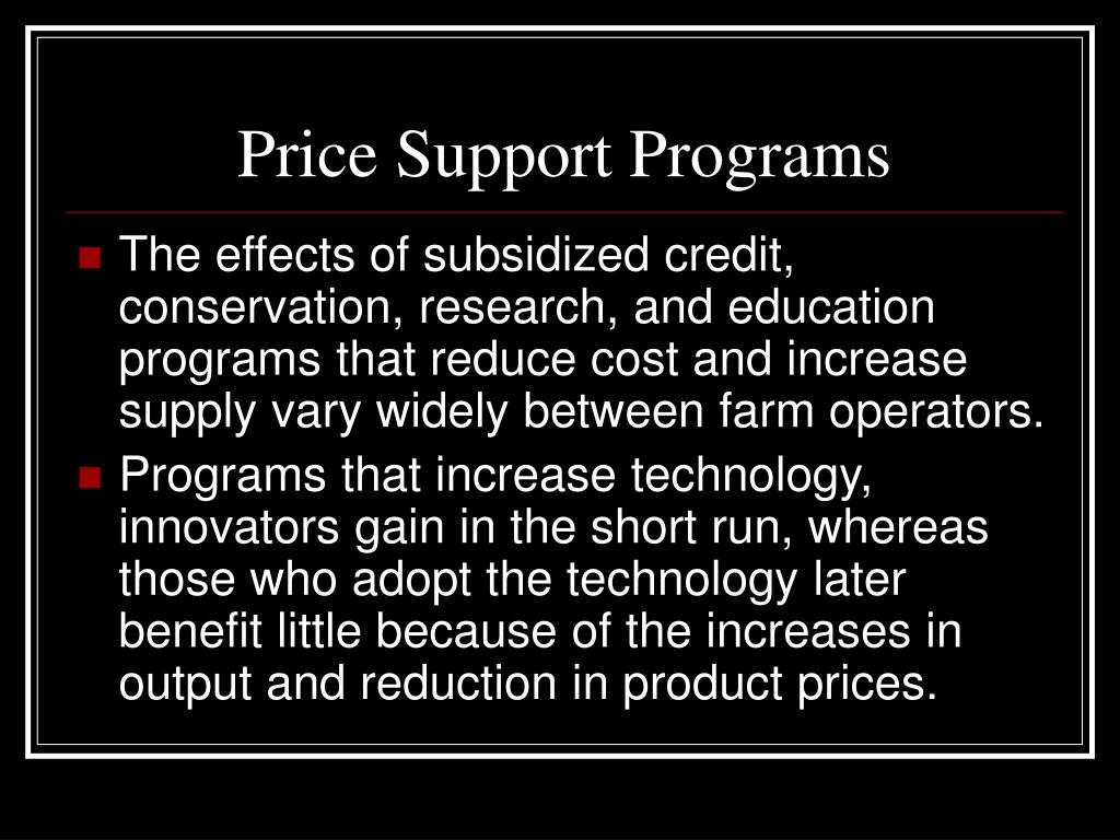 Price Support Programs
