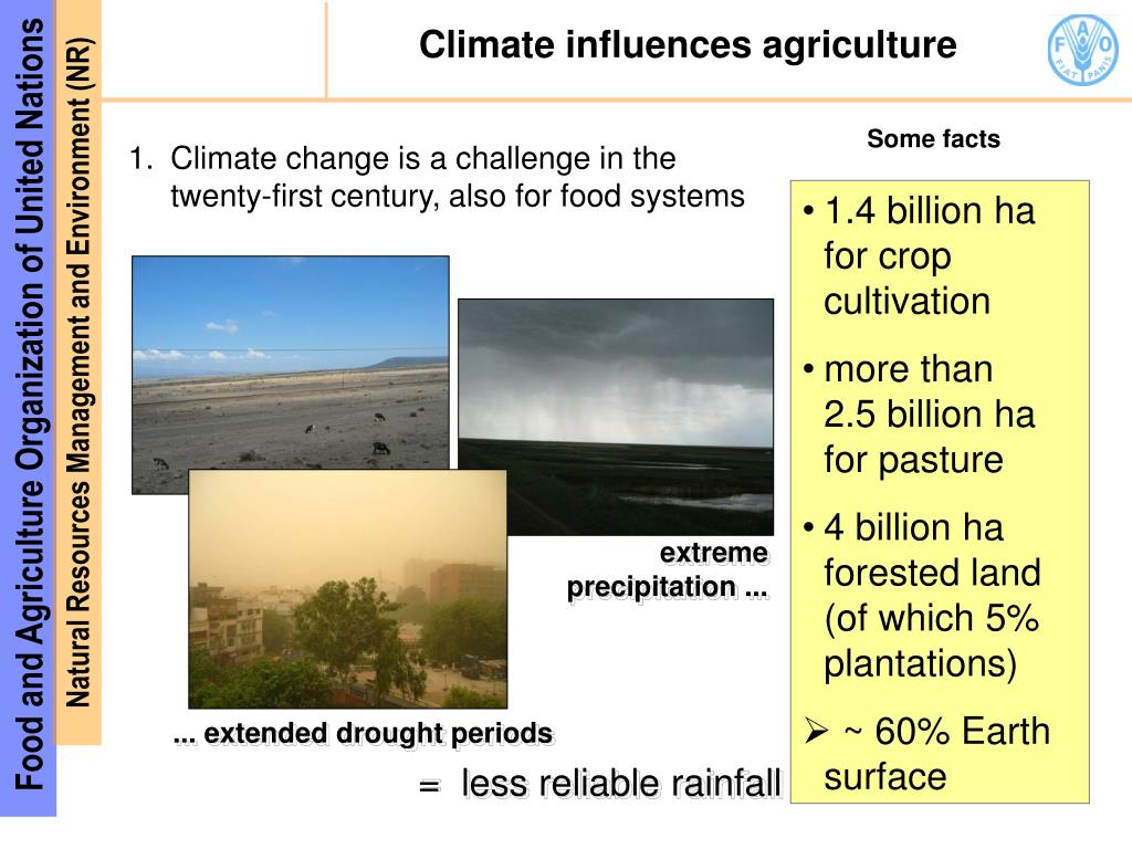 Climate influences agriculture