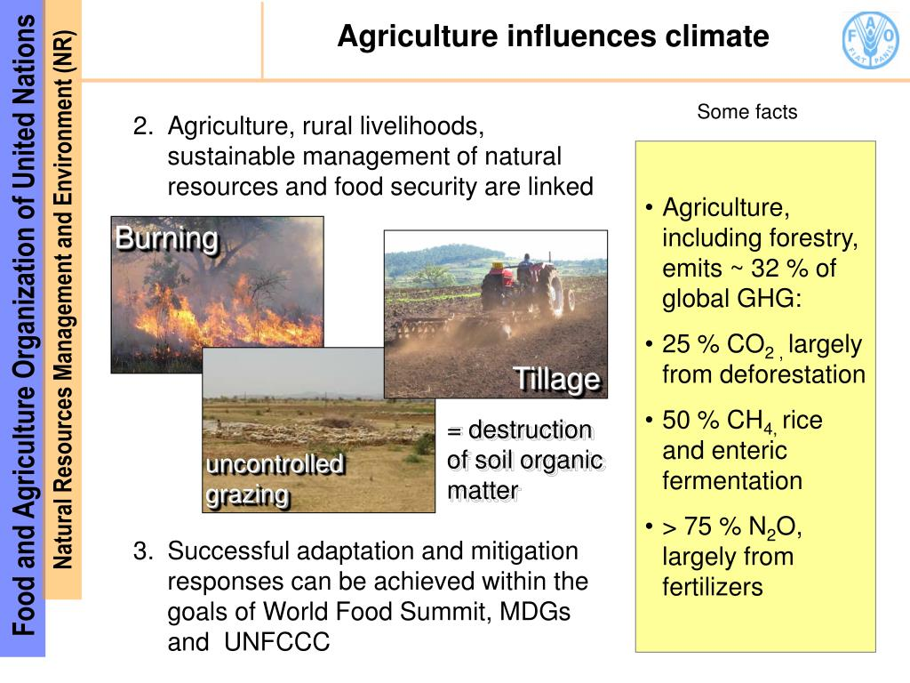 Agriculture influences climate