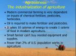 agribusiness the industrialization of agriculture