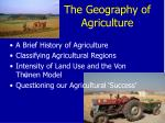 the geography of agriculture2
