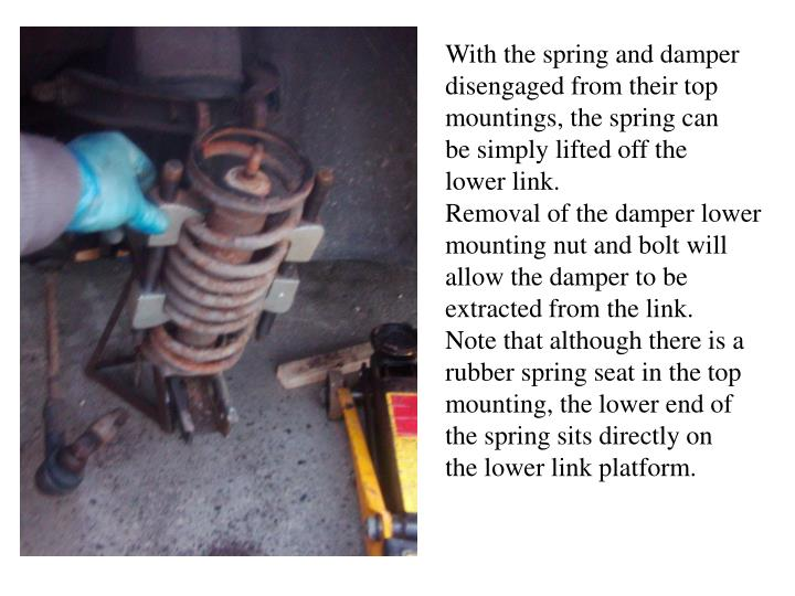 With the spring and damper