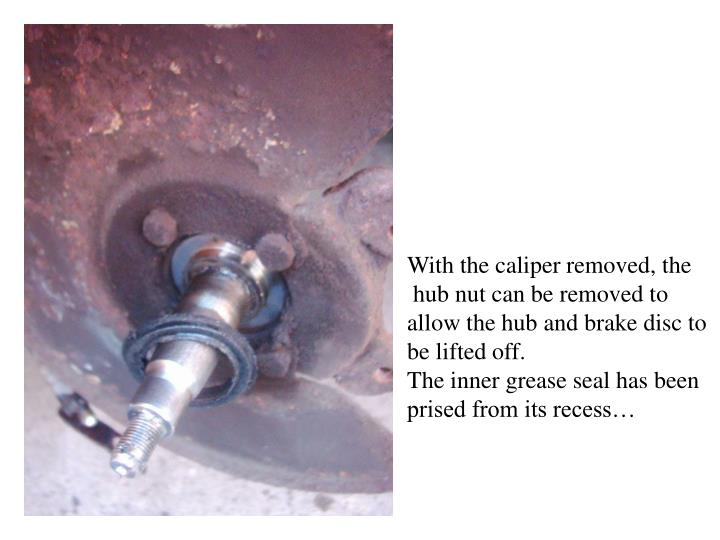 With the caliper removed, the