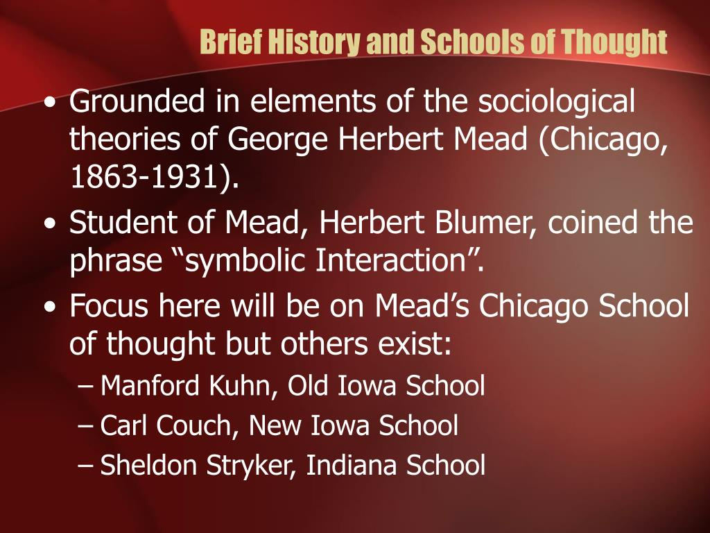 Brief History and Schools of Thought