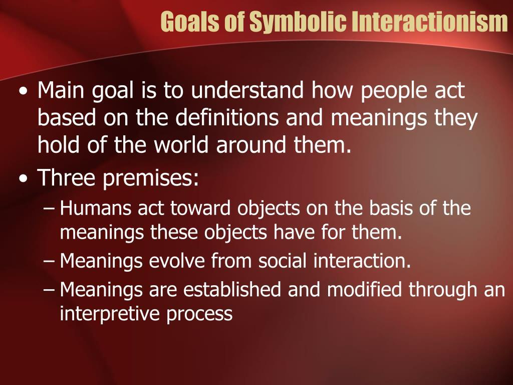 Goals of Symbolic Interactionism