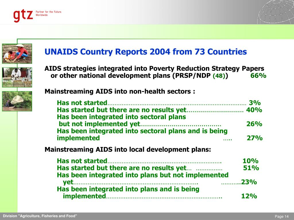 UNAIDS Country Reports 2004 from 73 Countries