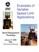 examples of variable speed limit applications