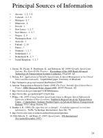 principal sources of information