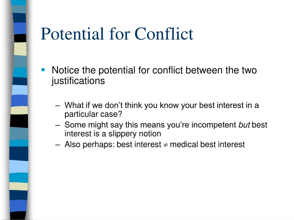 Potential for Conflict