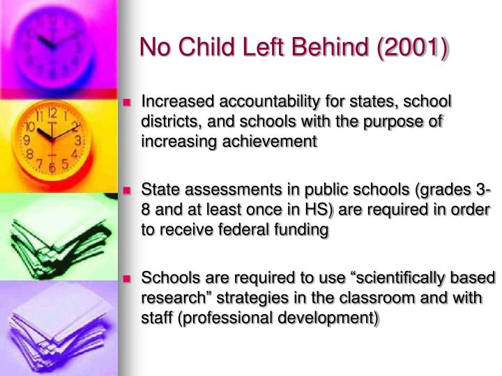 No child left behind 2001