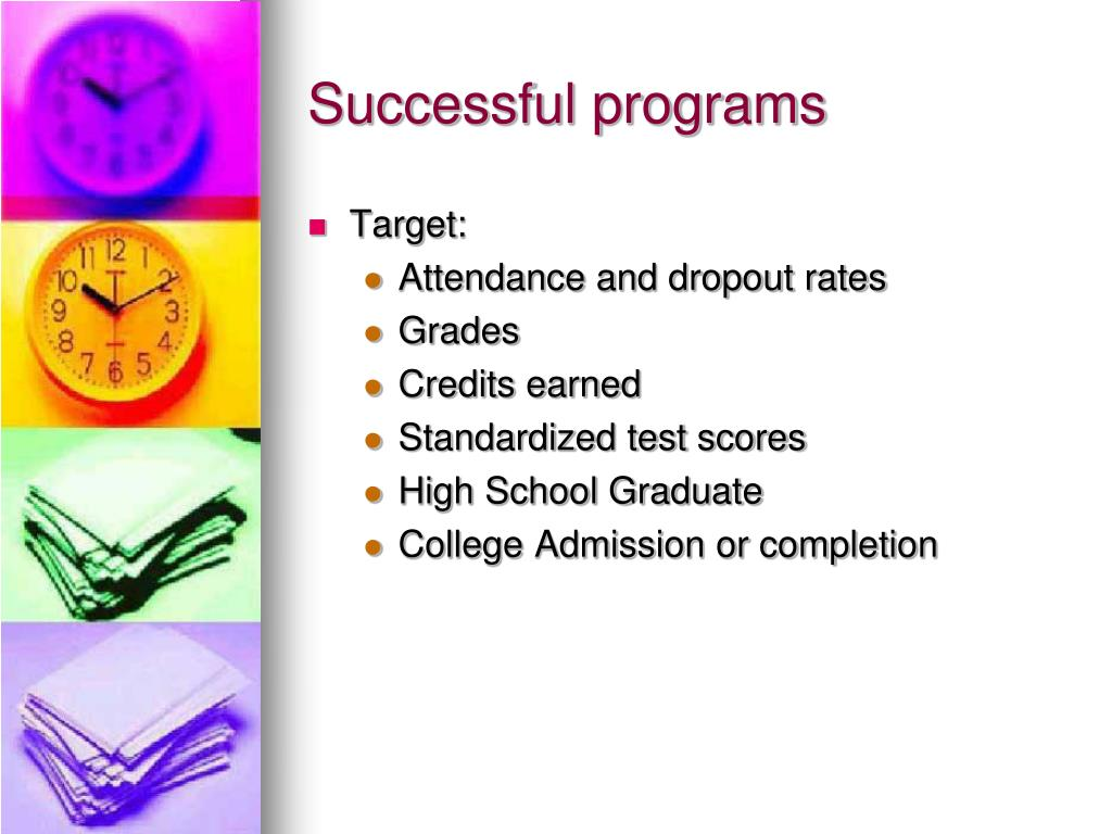 Successful programs