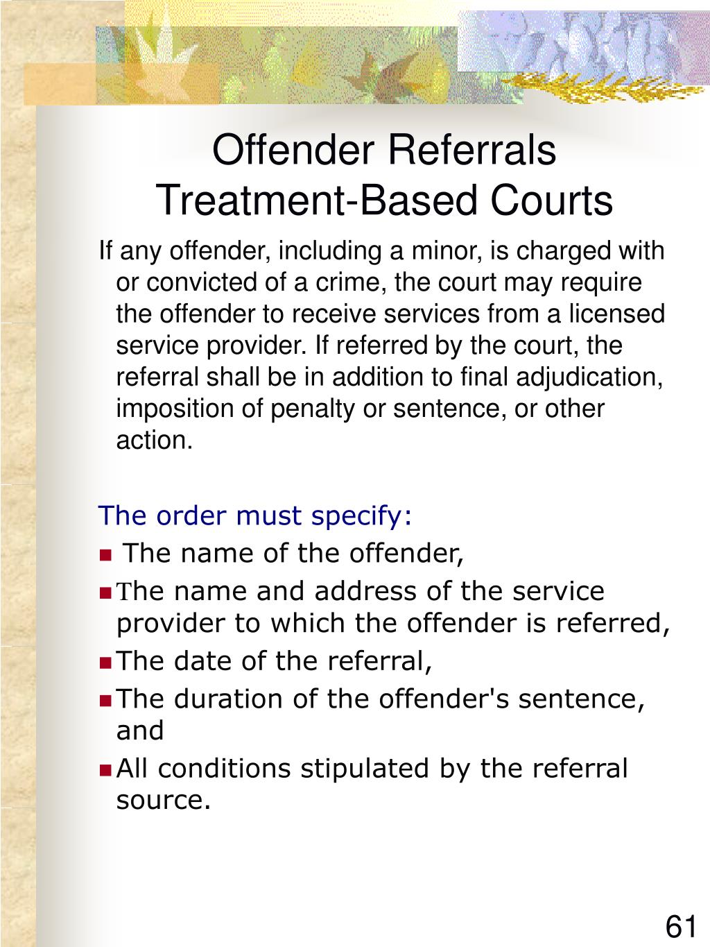 Offender Referrals