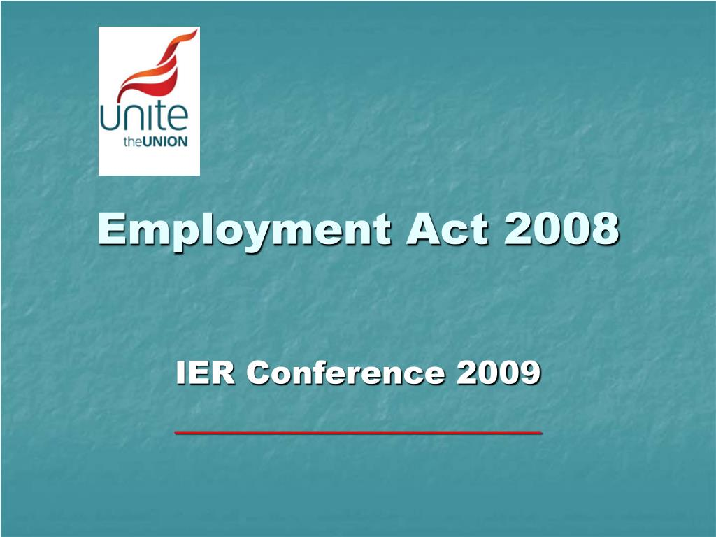 Employment Act 2008