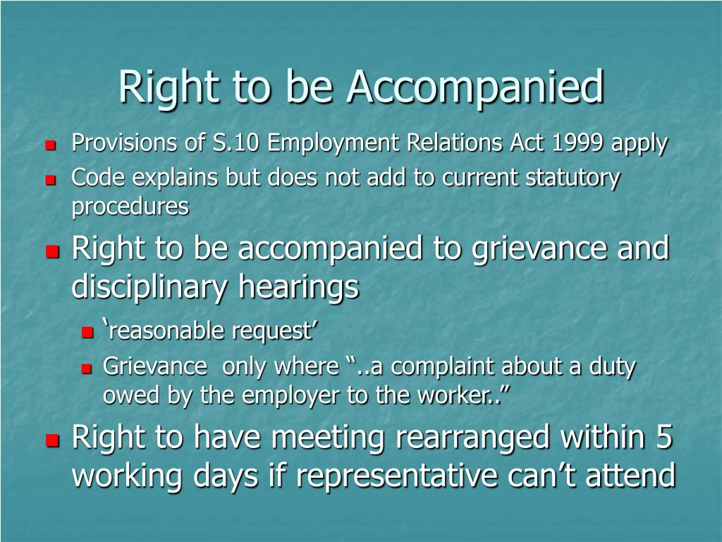 Right to be Accompanied