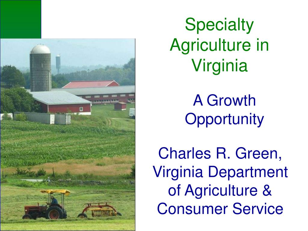 specialty agriculture in virginia l.