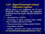 3 13 rural household related indicators system